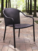 Crosley Palm Harbor Outdoor Wicker Stackable Chairs (Set of 4)