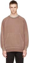 Burberry Pink Oversized Garment-dyed Sweatshirt