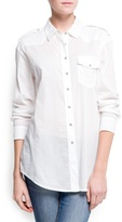 MANGO Cotton long shirt