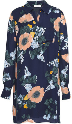 Joie Printed Silk-crepe Shirt Dress