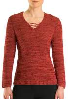 Olsen Havana Club Lace-Up Sweater