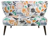 Skyline Furniture Mykal Armless LoveSeat - Cutout Floral Dusty