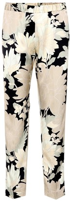 Dries Van Noten Floral-printed satin trousers