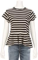 The Great Striped Ruffle Bottom Tee