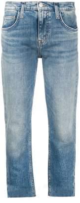 Current/Elliott Cropped Cut Hem Jeans