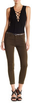 J Brand Anja Mid Rise Cuffed Cropped Pant