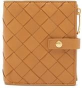 Bottega Veneta Intrecciato Leather Wallet - Womens - Tan