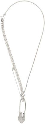 Ader Error Silver Destroyed Pin Necklace