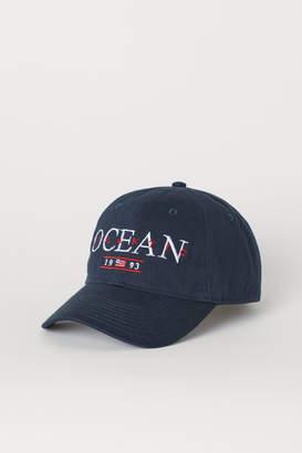 H&M Cotton Twill Cap - Blue
