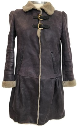 Miu Miu Purple Shearling Coat for Women