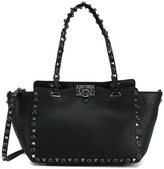 Valentino Garavani Valentino 'Rockstud Rolling' trapeze tote - women - Leather/Suede/metal - One Size