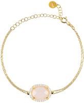 Latelita Beatrice Bracelet Gold Rose Quartz