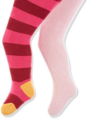 Playshoes Baby warme Winter Thermo-Strumpfhosen Block-Ringel Tights,62/68 (pack of 2)