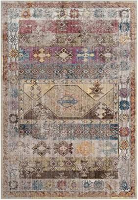 Safavieh BTL358M Yasmeen Woven Area Rug, Polyester, Multi-Colour, 154 x 228 x 0.25 cm