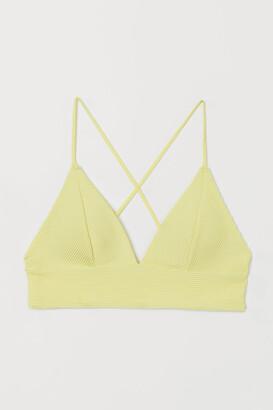 H&M Padded Triangle Bikini Top - Yellow