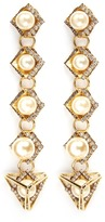 Erickson Beamon 'Bermuda Triangle' glass pearl drop earrings