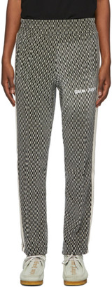 Palm Angels Black and Beige Houndstooth Lounge Pants