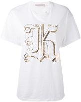 Christopher Kane metallic K T-shirt - women - Cotton - XS