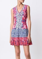 Saloni Elodie Mini Dress Fuschia