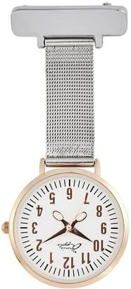 Bermuda Watch Company Annie Apple Rose Gold/Silver Mesh Nurse Fob Watch