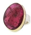 Jamie Joseph Large Irregular Faceted Pink Tourmaline Ring