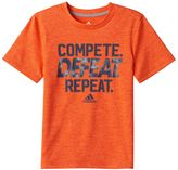 """adidas Boys 4-7x Compete. Defeat. Repeat."""" climaLite Tee"""