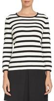 CeCe Women's Bow Sleeve Stripe Top