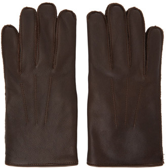 Ralph Lauren RRL Brown Leather Officers Gloves
