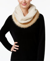 INC International Concepts Skip Stitch Faux Fur Cowl Loop, Only at Macy's