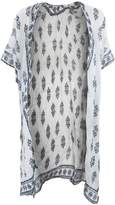 Universal Textiles Womens/Ladies Short Sleeve Summer Cardigan With Paisley And Flower Design