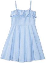 Ralph Lauren Cotton Fit & Flare Seersucker Dress, Big Girls (7-16)