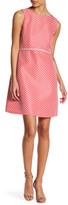 Tahari Polka Dot Fit & Flare Dress (Petite)