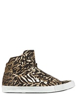Jimmy Choo Printed Leather High Top Sneakers
