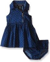 Calvin Klein Baby-Girls Printed Dark Chambray Dress