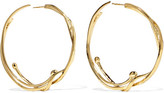 Aurelie Bidermann Ariane Gold-plated Hoop Earrings - one size