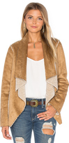 Velvet by Graham & Spencer Zariah Drape Front Faux Fur Jacket