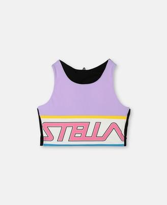 Stella McCartney sport crop top with logo print