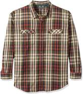 G.H. Bass Men's Big and Tall Long Sleeve Double Pocket Mountain Twill Shirt