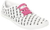 Wet Seal WetSeal Printed Tennis Shoe White