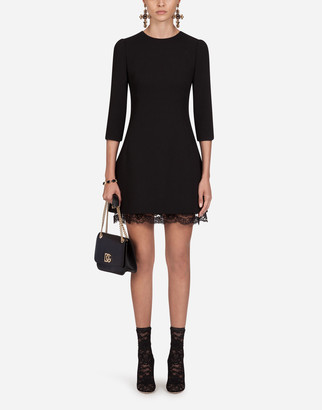 Dolce & Gabbana Double Wool Crepe Short Dress