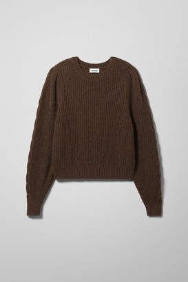 Weekday Cheri Sweater - Brown