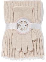 New York & Co. 2-Piece Textured Scarf & Gloves Set