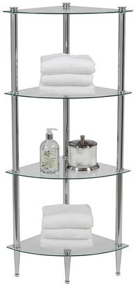 Creative Bath 4-Shelf Corner Tower Unit