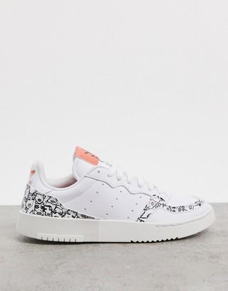 adidas x Fiorucci Supercourt sneakers in white