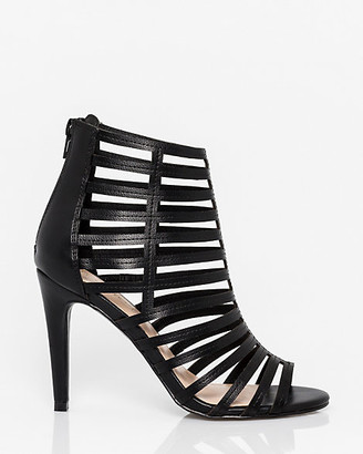 Le Château Faux Leather Open Toe Cage Sandal