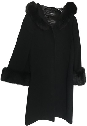 Flavio Castellani Black Cashmere Coat for Women