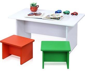Furinno FNAM-11030 Nino Fun Color Kid's Table and 2-Chair Set