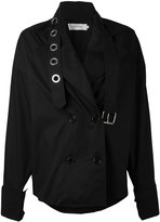 Marques Almeida Marques'almeida - strappy double-breasted coat - women - Cotton - S
