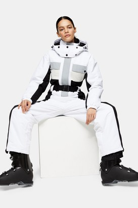 Topshop Womens **Black And White All In One Ski Suit By Sno - Monochrome