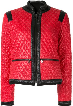 Chanel Pre Owned Quilted Reversible Padded Jacket